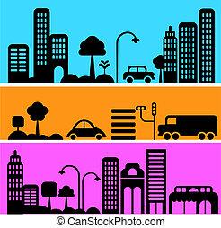 Vector illustration of a city street
