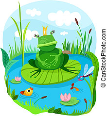 vector illustration of a frog