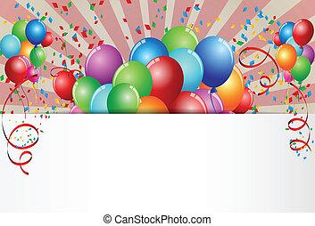 Vector Illustration Of Birthday Celebration
