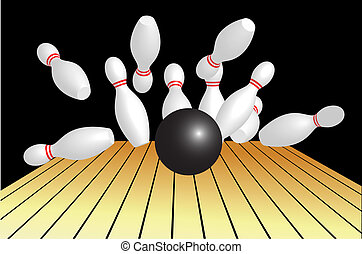 Vector illustration of bowling abstract background