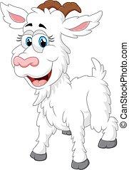 Cartoon happy animal goat