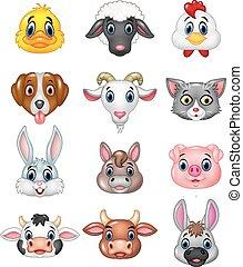 Cartoon happy animal head