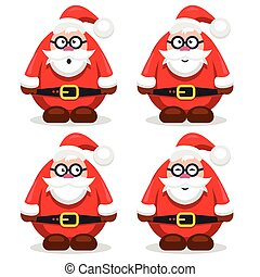 vector illustration of Christmas character Santa Claus in a flat style