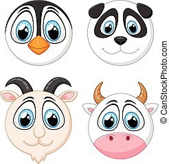 Collection baby face animal