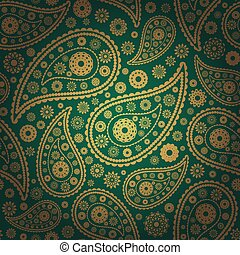 vector illustration of colored paisley seamless background