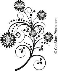 Vector illustration of floral design elements