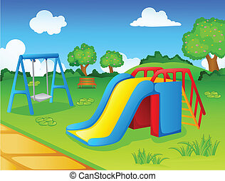 vector illustration of Play park for children