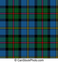 vector illustration of seamless blue and green tartan background