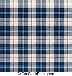 vector illustration of seamless blue and white tartan background