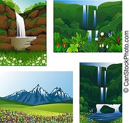 Set Icon frame scenery beautiful