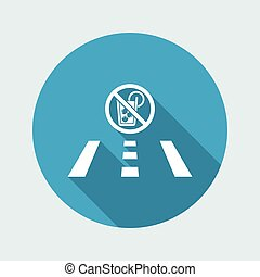Vector illustration of single isolated drink or drive icon