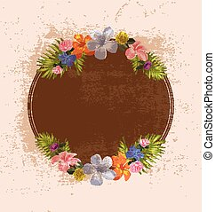 vector illustration of vintage floral background