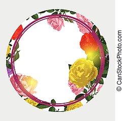 vector illustration of vintage floral background