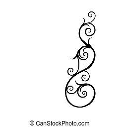 Vintage flourish swirl