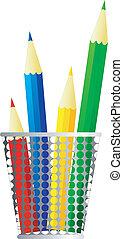 Vector image of pencils