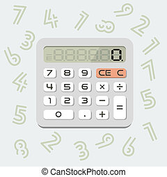 Vector isolated calculator in 'flat' style
