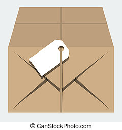 Vector isolated parcel in 'flat' style