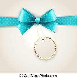 Vector isolated polka dots bow for greeting card