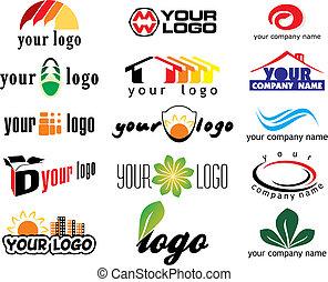 different logo elements - vector illustration
