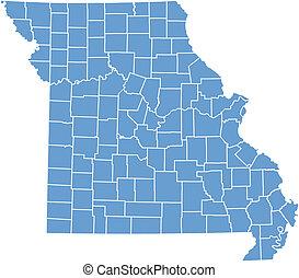Vector map Missouri