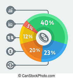 Vector money infographics, flat style