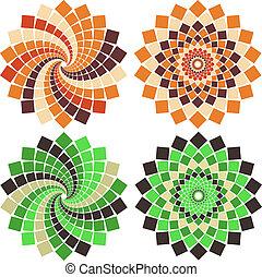 Vector mosaic flower