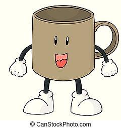 vector of cup cartoon