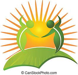 Vector of healthy life nature logo vector