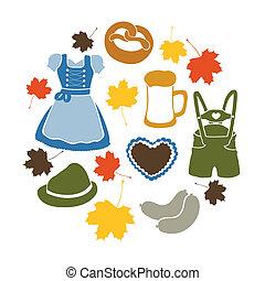 Vector oktoberfest elements