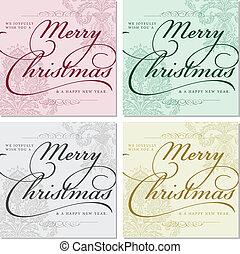Vector Ornate Christmas Frames