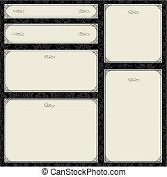 Vector Ornate Frame Set
