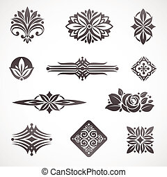 Vector page & book decor and design elements