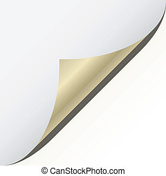 vector page corner with metallic backs