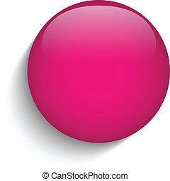 Vector - Pink Glass Circle Button Icon