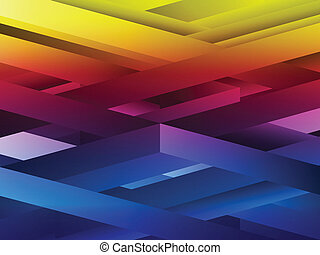 Rainbow abstract geometric lines background.