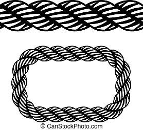 vector seamless black rope symbol