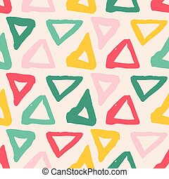 Vector seamless pattern. Colorful painted watercolor points. Hand drawn texture elements.