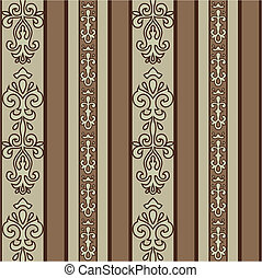 Detailed background pattern. The pattern is included as a seamless swatch tile for easily creating large fills. Easy to edit.