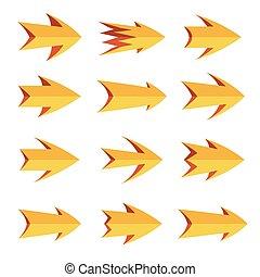 Vector set of arrows