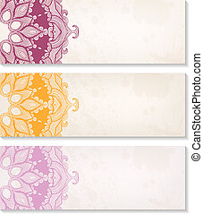 Vector set of decorative banners
