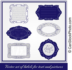 Vector set of labels