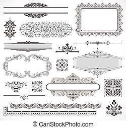Vector set of page decor elements