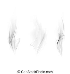 Vector set of smoke