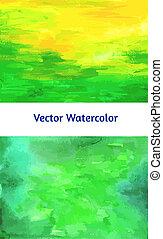 Vector set. Watercolor textured papers