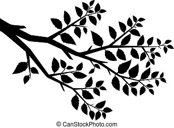 Vector silhouette of the branch tree