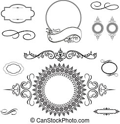 Vector ornament set. Easy to scale and edit. All pieces are separated.