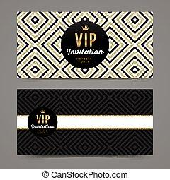 Vector template design for VIP invitation