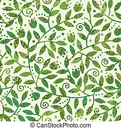Vector Textured Colorful Branches Seamless Pattern Background With abstract plants with colorful leaves and branches forming a floral texture.