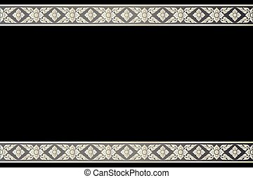 Vector vintage border frame engraving with retro ornament Vector illustration