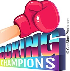 logo for boxing in 80s style.